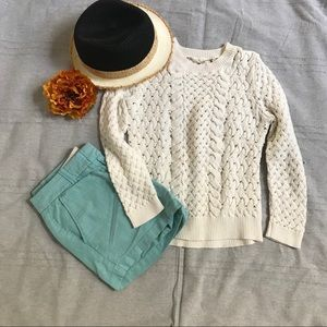 Anthro Knitted & Knotted 3/4 knit sweater XS